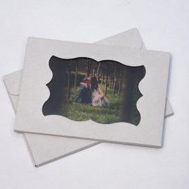 Pudełko/Koperta na zdjęcia 15×21/15×23 z okienkiem – BIAŁA
