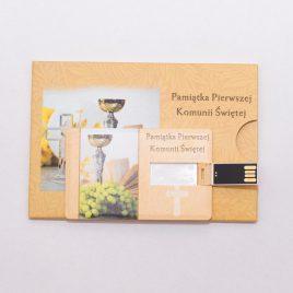 Karta Pendrive 8 GB USB 2.0 + opakowanie full nadruk Pamiątka Pierwszej Komunii Świętej
